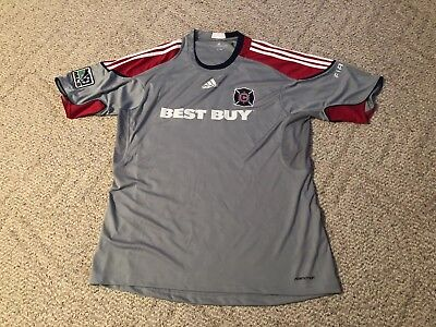 buy popular 1f488 6c84d Chicago Fire Adidas Jersey Gray Formotion MLS Soccer Mens X-Large Best Buy
