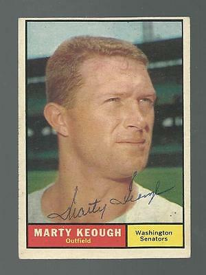 Marty Keough Signed Auto 1961 Topps #146 Baseball Card Autograph