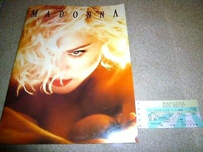 MADONNA - Blond Ambition World Tour 1990 Japan Tour BOOK (program) with Ticket