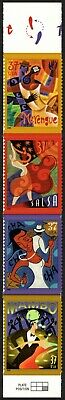USA Sc. 3942a 37c Let's Dance 2005 MNH strip of 4