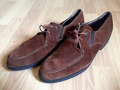 589b088b90a BALLY BROWN LEATHER Damor Ankle Tie Boots Shoes Mens Sz 12 D -  9.99 ...