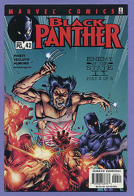 Black Panther #42 2002 Enemy of the State Wolverine Iron Man Velluto Marvel H
