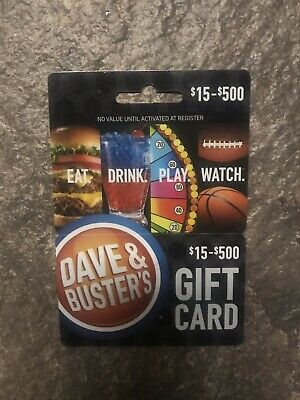 $25 Dave and Buster's Gift Card