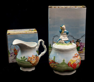 Cardew Alice In Wonderland Sugar And Creamer With Boxes