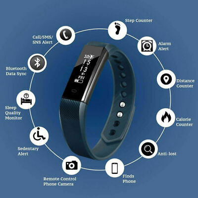 Activity Tracker Fitness Smart Health WomenMen Fitbit Android iOS Heart Rate