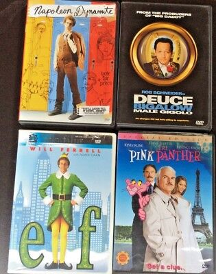 Lot of 4 DVD's: Napoleon Dynamite/Deuce Bigalow Male Gigolo/Elf/The Pink Panther