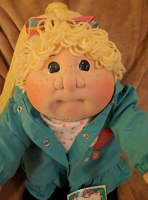 TK 08~LTD ED~FRECKLES~Cabbage Patch Kids~SOFT SCULPTURE~Cloth Doll~Little People