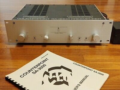 Counterpoint SA-3000 Tube Preamp with MM/MC Phono, Outboard Power Supply