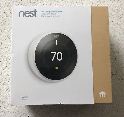 Nest Learning Thermostat 3rd Generation - White - BRAND NEW Factory Sealed