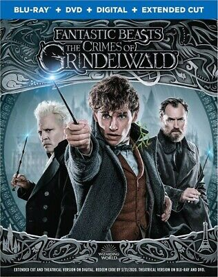 Fantastic Beast: The Crimes of Grindelwald (Blu-ray/dvd/Digital Combo) Brand New
