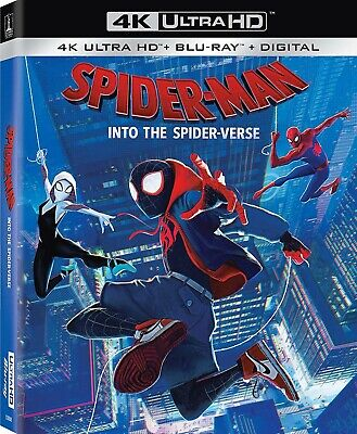 Spider-Man: Into the Spider-Verse 4K Ultra HD Blu-ray/Blu-ray/Digital, Brand New