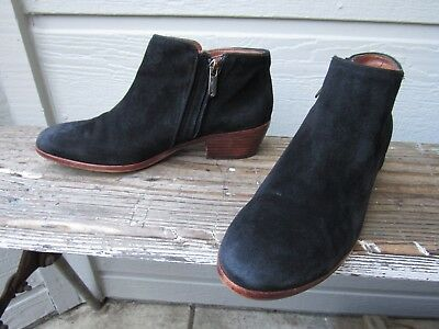 8a7dcc0dcdcb7 Sam Edelman PETTY Bootie Black Suede Ankle Boot US 6.5 M EU 36.5 Side Zip