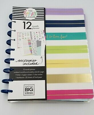 THE HAPPY PLANNER 2194 Pcs Stickers Note Paper Storage Pouch