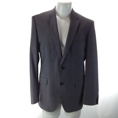 HUGO BOSS Men's Formal Suit MOHAIR WOOL Size 42R Gray Pin Striped