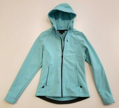 NWOT Women's KIRKLAND Teal Water Resistant Breathable Hooded Jacket Size Small S