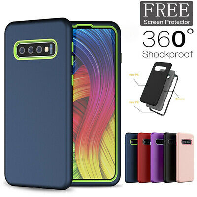 For Samsung Galaxy S10 S9 Plus Case 360° Shockproof Full Protective Hard Cover