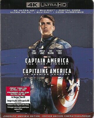 CAPTAIN AMERICA FIRST AVENGER 4K ULTRA HD & BLURAY & DIGITAL SET w/ Chris Evans