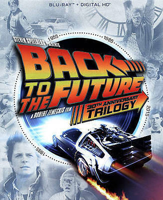 New! Back to the Future Trilogy 30th Anniversary BLU-RAY + DIGITAL w/ SLIPCOVER