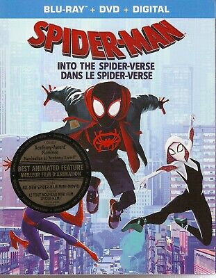 SPIDERMAN/SPIDER-MAN INTO THE SPIDER-VERSE BLURAY & DVD & DIGITAL SET w/Stan Lee