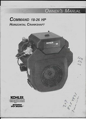 Kohler Engines - Command 18-26 Hp Horizontal Shaft Owner's Manual
