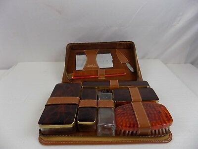 Vintage Roos / Atkins Travel Kit  Must See Very Nice Complete Set / Leather Case
