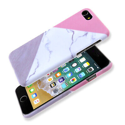 Granite Marble Contrast Color Hard Phone Cover Case for iPhone 6/6S - 8 Series