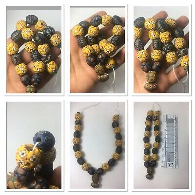Fantastic Roman Mosaic beads necklace