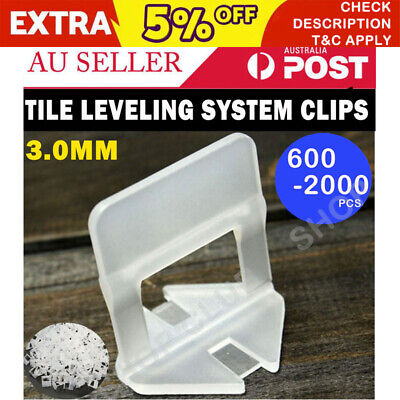 1000/2000/5000X Tile Leveling System Clips Wall Floor Tiling Spacer Tool 3mm AU