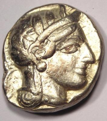 Ancient Athens Greece Athena Owl Tetradrachm Coin (454-404 BC) - VF/XF Condition