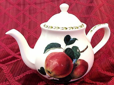 NEW Queens Royal Hookers Fruit Fine Bone China Red Apple Teapot