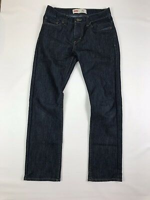 Levi's 511 Slim Boys 14 reg 27 27 Dark Wash Denim Jeans Pants 27x27 EUC