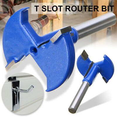 1/4 Inch Shank T Slot Router Bit T-Track Woodworking Milling Slotting Cutter