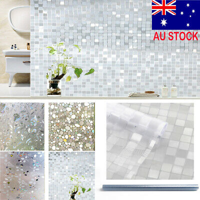 Privacy Glass Decor Frosted Window Film Static Cling Frosting Sticker 3D