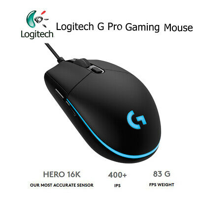 Logitech G Pro Gaming FPS Wired Mouse 12000DPI RGB 6 Programmable Macro Button