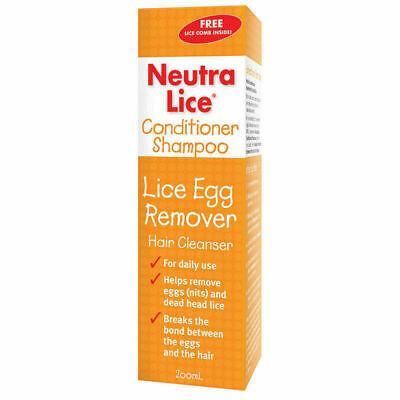 NEW Neutralice Conditioner Shampoo Lice Egg Remover Hair Cleanser 200ml
