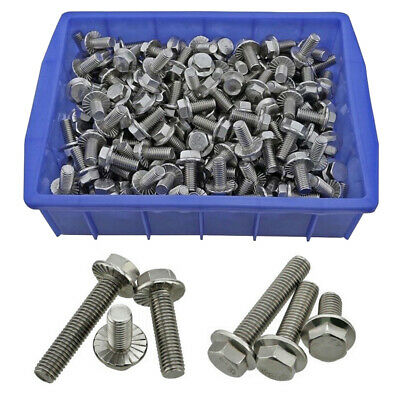 M6 M8 M10 Flange Hexagon Screws Flanged Hex Head Bolts 304 Stainless Steel