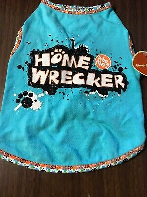 Dog Shirt Size Small Pet Puppy Clothes Clothing Home Wrecker
