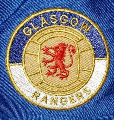 Retro Glasgow RANGERS Cloth Sew/iron on football shirt Patch Badge scotland UK