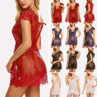 41532215c04 US-WOMEN S-SEXY-LINGERIE-SLEEPWEAR-LACE-ROMANTIC-WEDDING-NIGHT ...