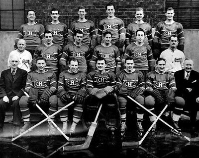 Montreal Canadiens 1944-45 NHL Season Team 8x10 Photo
