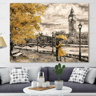 Landscape Abstract poster art wall print on canvas the painting for living room