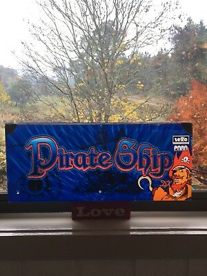 Pirate Ship Sign Man Cave Perspex See Through REDUCED