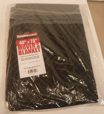 "New Haul Master 40"" X 72"" Mover's Blanket Double Stitched Poly Non-Woven Fabric"