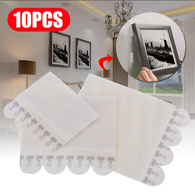 10 X Command Damage-Free Picture Frame Hanging Strips Value Pack Wall Sticker 3M