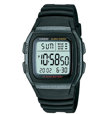 Casio W96H-1BV, Digital Chronograph Watch, Resin Band, Alarm, 10 Year Battery