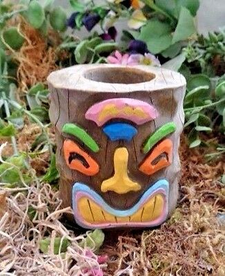 """Latex tiki candle holder mold plaster concrete casting mould 3.5"""" x 3"""""""