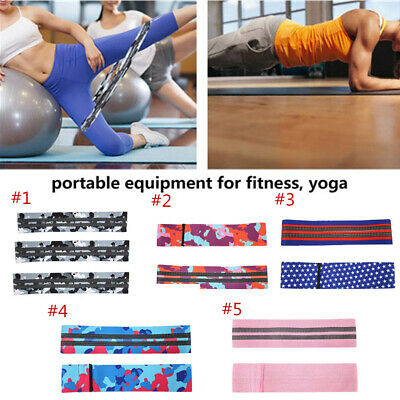 Resistance Workout Stretch Band Fitness Gym Excercise Strength Building Yoga New