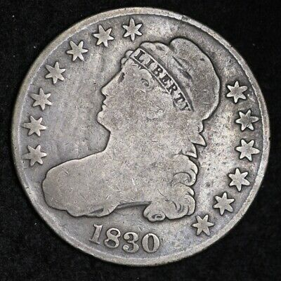 1830 Capped Bust Half Dollar CHOICE FINE FREE SHIPPING E413 AET