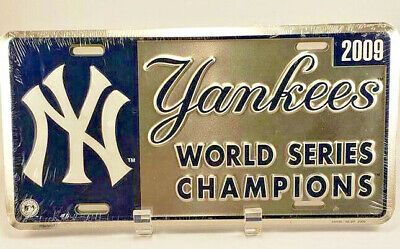 7cb33e1746a New York Yankees 2009 World Series Champions License Plate MLB Baseball