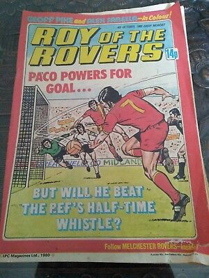 Vintage 1980 Roy of the Rovers Comic - 4th Oct - Geoff Pike - Alex Sabella